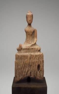 Seated Buddha, 17th century. Wood, 11 7/16 x 4 3/4 x 1 15/16 in. (29 x 12 x 5 cm). Brooklyn Museum, Gift of Dr. Alvin E. Friedman-Kien, 2004.112.35. Creative Commons-BY