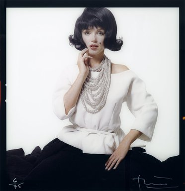 Bert Stern (American, 1929-2013). Marilyn Monroe, 1962. Photograph, Sheet: 49 3/4 x 49 3/4 in. (126.4 x 126.4 cm). Brooklyn Museum, Gift of Baldev Duggal, 2004.118. © Bert Stern, 1962