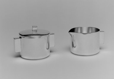 Merle F. Faber (American, 1891-1980). Creamer, 1943-1950. Silverplate, 1 7/8 x 3 1/4 x 2 1/2 in. (4.8 x 8.3 x 6.4 cm). Brooklyn Museum, Gift of Jewel Stern, 2004.12.3. Creative Commons-BY