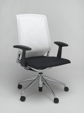 Alberto Meda (Italian, born 1945). Meda Chair, designed 1996. Aluminum, plastic, plastic mesh, plano covered foam seat, 38 1/4 x 27 3/8 x 20 1/4 in. (97.2 x 69.5 x 51.4 cm). Brooklyn Museum, Gift of Vitra, Inc., 2004.15. Creative Commons-BY