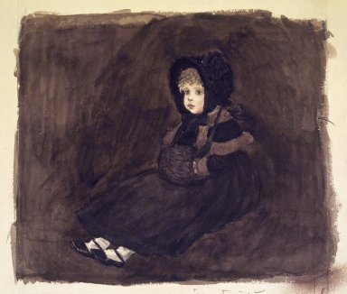 Kate Greenaway (British, 1846-1901). A Little Girl in a Muff, n.d. Watercolor on paper, 7 1/2 x 9 in. (19.1 x 22.9 cm). Brooklyn Museum, Gift of The Beatrice and Samuel A. Seaver Foundation, 2004.25