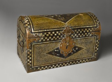 Trunk, late 16th century. Wood, lacquer, mother-of-pearl, brass, 9 1/16 x 14 7/16 x 7 9/16 in. (23 x 36.7 x 19.2 cm). Brooklyn Museum, The Peggy N. and Roger G. Gerry Collection, 2004.28.192. Creative Commons-BY