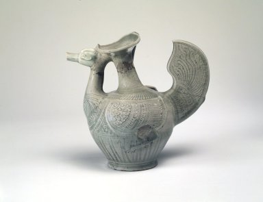 Ewer, 13th-15th century. Stoneware with celadon glaze, 8 1/2 x 5 5/8 in. (21.6 x 14.3 cm). Brooklyn Museum, The Peggy N. and Roger G. Gerry Collection, 2004.28.244. Creative Commons-BY