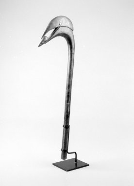 Fon. Récade (Kpo), 19th century. Wood, copper alloy, 20 1/2 x 6 x 1 1/4 in. (52.1 x 15.2 x 3.2 cm). Brooklyn Museum, Gift of Blake Robinson, 2004.52.22. Creative Commons-BY