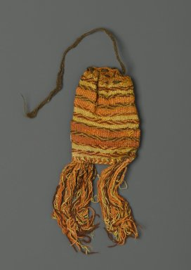 Coca Bag, 1000-1500. Cotton? camelid fiber?, 7 x 3 in. (17.8 x 7.6 cm). Brooklyn Museum, Gift of Victor P. Nunez, 2004.53.54. Creative Commons-BY