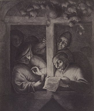 Adriaen van Ostade (Dutch, 1610-1685). The Singers at the Window, 1667. Etching, Sheet: 7 5/16 x 9 3/8 in. (18.6 x 23.8 cm). Brooklyn Museum, Hilda and Al Schein Collection, 2004.66