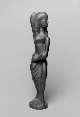 William Zorach (American, born Lithuania, 1887-1966). Figure of a Girl. Bronze, 12 7/8 x 3 1/8 x 2 3/4 in. (32.7 x 7.9 x 7 cm). Brooklyn Museum, Bequest of George Turitz, 2004.72.2. Creative Commons-BY