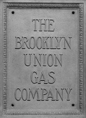 Brooklyn Union Gas Plaque. Bronze, 26 x 19 x 1 1/2 in. (66 x 48.3 x 3.8 cm). Brooklyn Museum, Gift of the Keyspan Corporation, 2004.73. Creative Commons-BY