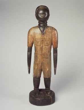Mende. Standing Male Figure, early 20th century. Wood, pigment, 25 x 8 1/4 x 6 1/2 in. (63.5 x 21 x 16.5 cm). Brooklyn Museum, Gift of Dorothea and Leo Rabkin, 2004.75.1. Creative Commons-BY