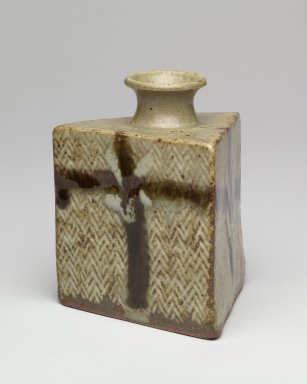 Shimaoka Tatsuzo (Japanese, born 1919). Triangular Vase. Stoneware, 4 5/8 x 3 5/8 in. (11.7 x 9.2 cm). Brooklyn Museum, Gift of Dr. Eleanor Z. Wallace in memory of her husband, Dr. Stanley L. Wallace, 2004.87.3. Creative Commons-BY