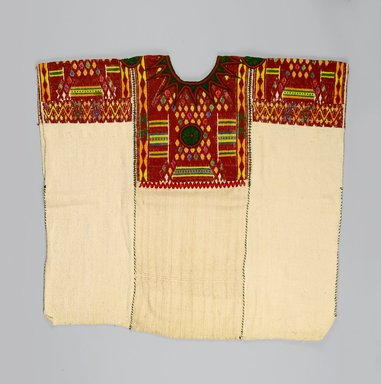 Maya. Woman's Blouse or Huipil, 1930s or 1940s. Cotton, silk, 30 x 31 in. (76.2 x 78.7 cm). Brooklyn Museum, Gift in memory of Elizabeth Ege Freudenheim, 2005.15.1. Creative Commons-BY