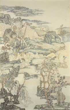 Yun-Fei Ji (born China, 1963). The Empty City: Fragrant Creek, 2003. Mineral pigments on xuan paper