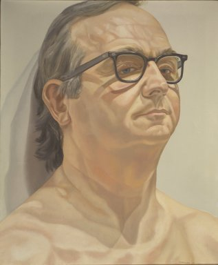 Philip Pearlstein (American, born 1924). Portrait of George Klauber, 1976. Oil on canvas Brooklyn Museum, Bequest of George Klauber, 2005.20.2. © Philip Pearlstein