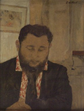 Édouard Vuillard (French, 1868-1940). Portrait of Thadée Natanson, 1897. Oil on cardboard mounted on panel, 20 5/8 x 15 1/2 in. (52.4 x 39.4 cm). Brooklyn Museum, Gift of William Kelly Simpson in honor of Nathan Todd Porter, Jr., 2005.23