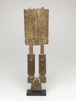 Fante. Pair of Akuaba Figures, early 20th century. Wood, 13 1/4 x 3 3/4 x 1 1/8 in. (33.7 x 9.5 x 2.9 cm). Brooklyn Museum, Gift of Marcia and Irwin Hersey, 2005.29.1. Creative Commons-BY