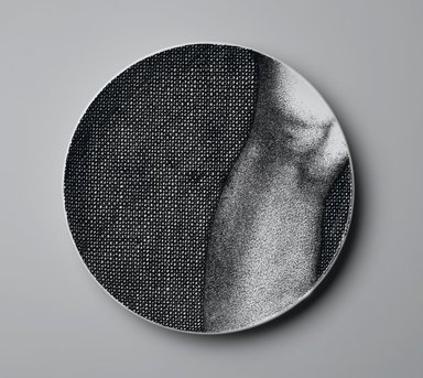 Piero Fornasetti (Italian, 1913-1988). Plate, Eva, ca. 1954. Glazed earthenware, 1 x 10 1/4 x 10 1/4 in. (2.5 x 26 x 26 cm). Brooklyn Museum, Gift of the Estate of Jane Adams Breed, 2005.37.10. Creative Commons-BY
