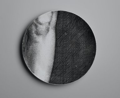Piero Fornasetti (Italian, 1913-1988). Plate, Eva, ca. 1954. Glazed earthenware, 1 x 10 1/4 x 10 1/4 in. (2.5 x 26 x 26 cm). Brooklyn Museum, Gift of the Estate of Jane Adams Breed, 2005.37.11. Creative Commons-BY