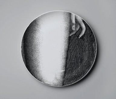 Piero Fornasetti (Italian, 1913-1988). Plate, Eva, ca. 1954. Glazed earthenware, 1 x 10 1/4 x 10 1/4 in. (2.5 x 26 x 26 cm). Brooklyn Museum, Gift of the Estate of Jane Adams Breed, 2005.37.13. Creative Commons-BY