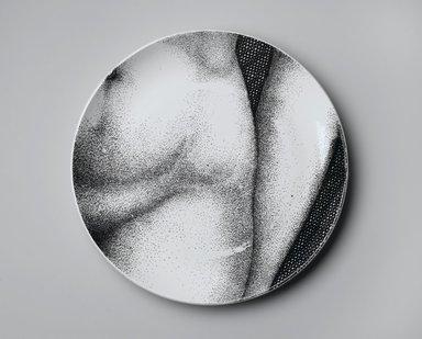 Piero Fornasetti (Italian, 1913-1988). Plate, Eva, ca. 1954. Glazed earthenware, 1 x 10 1/4 x 10 1/4 in. (2.5 x 26 x 26 cm). Brooklyn Museum, Gift of the Estate of Jane Adams Breed, 2005.37.15. Creative Commons-BY