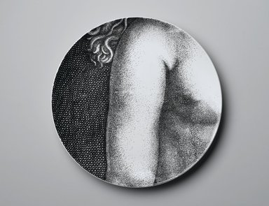 Piero Fornasetti (Italian, 1913-1988). Plate, Eva, ca. 1954. Glazed earthenware, 1 x 10 1/4 x 10 1/4 in. (2.5 x 26 x 26 cm). Brooklyn Museum, Gift of the Estate of Jane Adams Breed, 2005.37.16. Creative Commons-BY