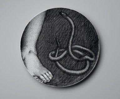 Piero Fornasetti (Italian, 1913-1988). Plate, Eva, ca. 1954. Glazed earthenware, 1 x 10 1/4 x 10 1/4 in. (2.5 x 26 x 26 cm). Brooklyn Museum, Gift of the Estate of Jane Adams Breed, 2005.37.9. Creative Commons-BY