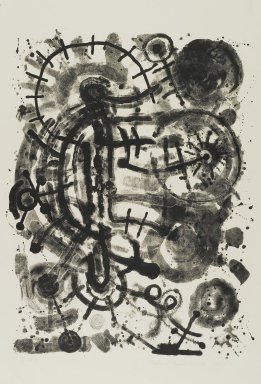 Richard Mock (American, 1944-2006). Untitled, 1985. Lithograph, 36 x 26 in. (91.4 x 66 cm). Brooklyn Museum, Gift of Nancy and Arnold Smoller, 2005.46.7. © Estate of Richard Basil Mock