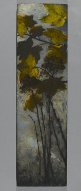 Elizabeth Boott Duveneck (American, 1846-1888). Autumn Foliage, 1882. Oil on wood panel, Individual Panel: 35 15/16 x 10 in. (91.3 x 25.4 cm). Brooklyn Museum, Gift of Joan Harmen Brown, Mr. and Mrs. William Slocum Davenport, Mrs. Lewis Francis, Samuel E. Haslett, William H. Herriman, Joseph Jefferson IV, Clifford L. Middleton, the New York City Police Department, Mrs. Charles D. Ruwe, Charles A. Schieren, the University Club, Mrs. Henry Wolf, Austin M. Wolf, and Hamilton A. Wolf, by exchange, Frank Sherman Benson Fund, Museum Collection Fund, Dick S. Ramsay Fund, Carll H. de Silver Fund, John B. Woodward Memorial Fund, and Designated Purchase Fund , 2005.54.1