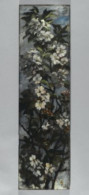 Elizabeth Boott Duveneck (American, 1846-1888). Apple Blossoms, 1882. Oil on wood panel, Individual panel: 35 15/16 x 9 15/16 in. (91.3 x 25.2 cm). Brooklyn Museum, Gift of Joan Harmen Brown, Mr. and Mrs. William Slocum Davenport, Mrs. Lewis Francis, Samuel E. Haslett, William H. Herriman, Joseph Jefferson IV, Clifford L. Middleton, the New York City Police Department, Mrs. Charles D. Ruwe, Charles A. Schieren, the University Club, Mrs. Henry Wolf, Austin M. Wolf, and Hamilton A. Wolf, by exchange, Frank Sherman Benson Fund, Museum Collection Fund, Dick S. Ramsay Fund, Carll H. de Silver Fund, John B. Woodward Memorial Fund, and Designated Purchase Fund