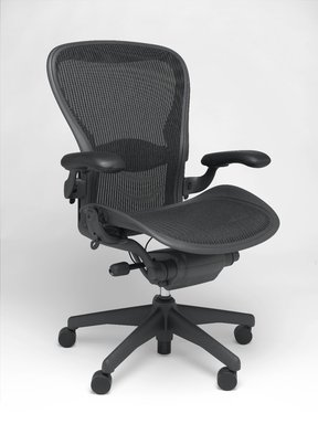 Don Chadwick (American, born 1936). Aeron Chair, designed 1994. Recycled aluminum, recycled polymer, 40 3/4 x 28 1/4 x 21 3/4 in. (103.5 x 71.8 x 55.2 cm). Brooklyn Museum, Gift of Herman Miller Inc., 2005.65. Creative Commons-BY