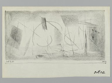 John von Wicht (American, born Germany, 1888-1970). Drawing, 1951., 5 1/2 x 8 1/2 in. (14 x 21.6 cm). Brooklyn Museum, Brooklyn Museum Collection, 2006.17.19
