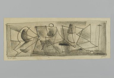 John von Wicht (American, born Germany, 1888-1970). Drawing, 1951., 4 3/8 x 11 in. (11.1 x 27.9 cm). Brooklyn Museum, Brooklyn Museum Collection, 2006.17.21