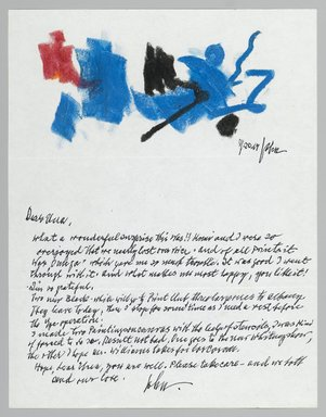 John von Wicht (American, born Germany, 1888-1970). Letter with Drawing, 11/20/1967., 8 1/2 x 11 in. (21.6 x 27.9 cm). Brooklyn Museum, Brooklyn Museum Collection, 2006.17.5