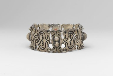 William Spratling (American, 1900-1967). Bracelet, ca. 1935-1940. Silver, 1 1/8 x 7 3/4 in. (2.9 x 19.7 cm). Brooklyn Museum, Gift of Dr. Martin R. and Eve Lebowitz in memory of his parents, Henry and Esther Lebowitz, 2006.7.2. Creative Commons-BY