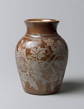 Charles Graham (American, 1854-1907). Vase, Patented April 7, 1885. Glazed stoneware, 7 1/2 x 5 5/8 in. (19.1 x 14.3 cm). Brooklyn Museum, Gift of Jay and Emma Lewis, 2007.22. Creative Commons-BY