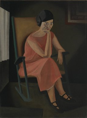 George Copeland Ault (American, 1891-1948). Miss Whiting, 1923. Oil on canvas, sight: 23 1/2 x 17 1/2 in. (59.7 x 44.5 cm). Brooklyn Museum, Gift of Manhattan Art Investments, LP, 2007.29
