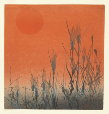 Kogyo Terazaki (Japanese, 1866-1919). Rice at Sunset, ca. 1890-1895. Woodblock color print, 9 1/16 x 8 5/8 in. (23 x 21.9 cm). Brooklyn Museum, Gift of the Estate of Dr. Eleanor Z. Wallace, 2007.32.24