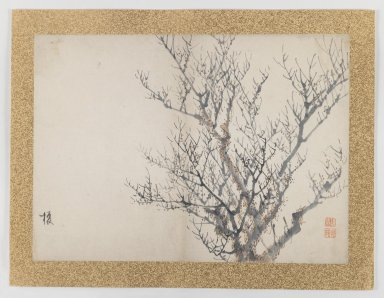 Nishiyama Hoen (Japanese, 1804-1867). [Untitled] (Winter Trees), 1855. Ink and light color on paper, 10 3/4 x 14 15/16 in. (27.3 x 37.9 cm). Brooklyn Museum, Gift of the Estate of Dr. Eleanor Z. Wallace, 2007.32.47