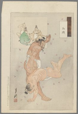 Brooklyn Museum: Wrestlers