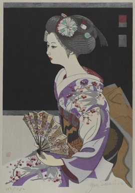 Sekino Junichiro (Japanese, 1914-1988). [Untitled] (Geisha in Profile). Woodblock print, Other (Sight): 20 3/16 x 15 in. (51.3 x 38.1 cm). Brooklyn Museum, Gift of the Estate of Dr. Eleanor Z. Wallace, 2007.32.93. © Estate of Sekino Junichiro