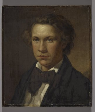 John Barnard Whittaker (American, 1836-1926). Portrait of a Man, 1859. Oil on canvas, Image: 15 3/8 x 13 3/8 in. (39.1 x 34 cm). Brooklyn Museum, Gift of Dr. Clark S. Marlor, 2007.52.1