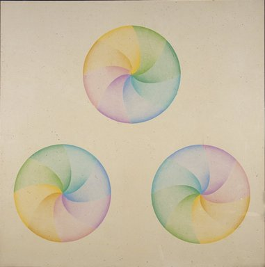 Judy Chicago (American, born 1939). Large Dome Drawing #4, 1968-1969. Prismacolor on paper, Frame: 54 x 54 in. (137.2 x 137.2 cm). Brooklyn Museum, Gift of Ken Marvel and Bob Gardner, 2007.5. © Judy Chicago