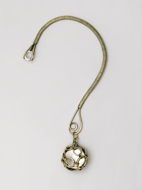 """Art Smith (American, 1917-1982). """"Bauble"""" Necklace, ca. 1953. Silver, colorless quartz, 9 1/8 x 4 7/8 x 1/2 in. (23.2 x 12.4 x 1.3 cm). Brooklyn Museum, Gift of Charles L. Russell, 2007.61.7. Creative Commons-BY"""