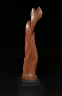 Robert Laurent (American, born France, 1890-1970). Plant Form, ca. 1920-1923. Wood on separate wood base, Overall with base: 21 1/4 x 7 1/4 x 7 1/4 in. (54 x 18.4 x 18.4 cm). Brooklyn Museum, Dick S. Ramsay Fund, 2008.1. © Estate of Robert Laurent