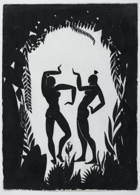 Richard Bruce Nugent (American, 1906-1987). Dancing Figures, ca. 1935. Black ink and graphite on moderately thick, moderately textured, cream colored wove paper, 14 3/4 x 10 1/2 in. (37.5 x 26.7 cm). Brooklyn Museum, Gift of Dr. Thomas H. Wirth, gift of Frederick J. Adler, by exchange, bequest of Richard J. Kempe, by exchange, and gift of Abraham Walkowitz, by exchange, 2008.50.6
