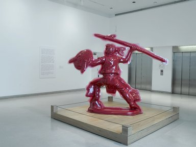 Yoram Wolberger (American, born Tel Aviv, Israel, 1963). Red Indian #4 (Spearman), 2008. 3-D digital scanning, CNC digital sculpting, reinforced fiberglass composites, Urethane paint