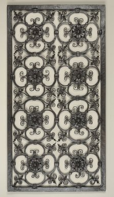 Samuel Yellin (American, born Mogilev (or Mogolov), Russia, 1884-1940). Grille, ca. 1922. Iron, 43 1/4 x 22 13/16 x 1 9/16 in. Brooklyn Museum, Gift of American Decorative Art 1900 Foundation in honor of Barry R. Harwood