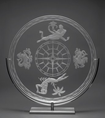 Sidney Biehler Waugh (1904-1963). Mariner's Bowl, 1935. Glass, 2 1/4 x 15 1/2 in. (5.7 x 39.4 cm). Brooklyn Museum, Gift of John C. Waddell, 2008.89.3. Creative Commons-BY