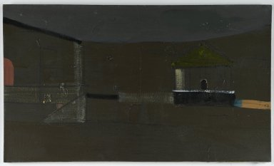 Merlin James (British, born 1960). Detail-Temple, 1995-1996. Acrylic on canvas, 20 7/8 x 35 3/4 in. (53 x 90.8 cm). Brooklyn Museum, Purchase gift of the Alex Katz Foundation, 2008.8. © Merlin James
