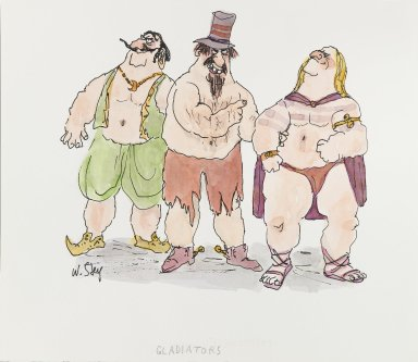 William Steig (American, 1907-2003). [Untitled] (Gladiators). Brooklyn Museum, Gift of Jeanne Steig, 2010.20.27. © Estate of William Steig