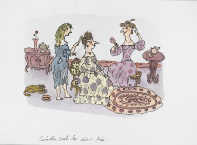 William Steig (American, 1907-2003). [Untitled] (Cinderella Scene). Brooklyn Museum, Gift of Jeanne Steig, 2010.20.31. © Estate of William Steig